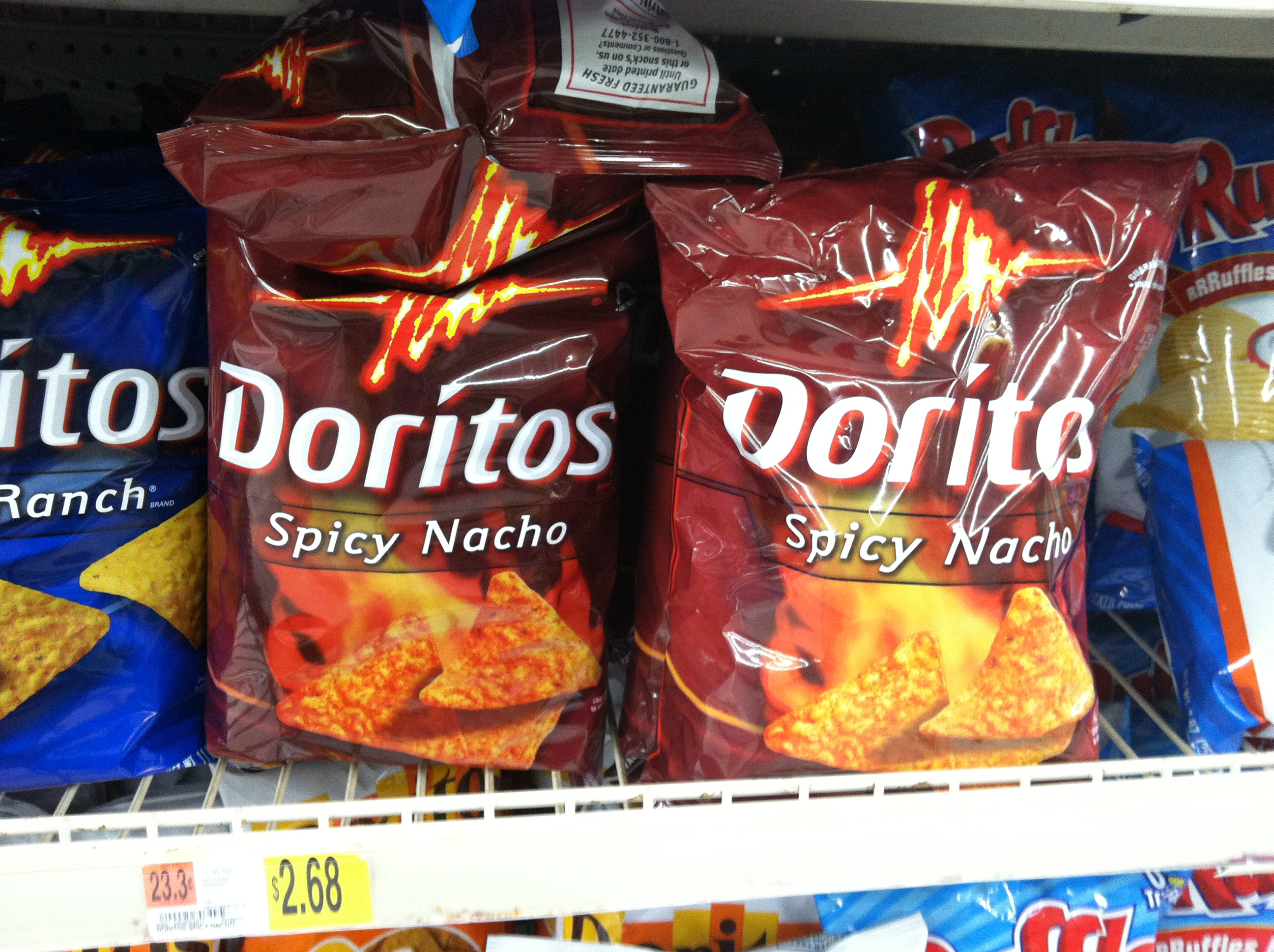 doritos essay Here's a list of ingredients from two similar snack products compare the  following two lists and tell me which you'd rather eat: product a: whole.