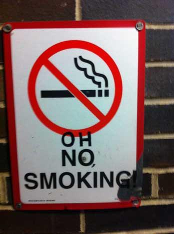 Oh No Smoking!