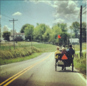 First sighting of the Amish, still exotic.