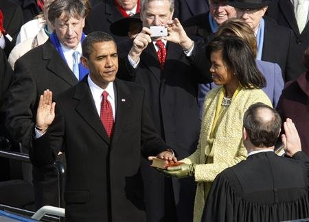 A picture from Obama's bungled 2009 Inauguration. (via Yahoo.com)