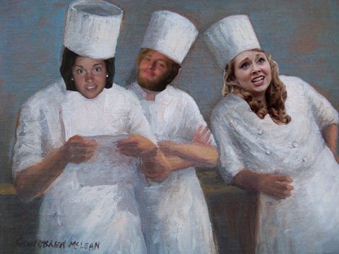 Olivia Sterling '16, Lewis Thompson '16, and Anna Yukevich '16, the master chefs of OLA Granola