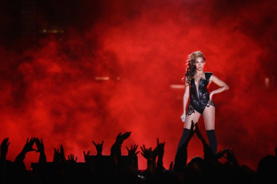 With a score of infinity to zero, Beyoncé won the Super Bowl tonight.