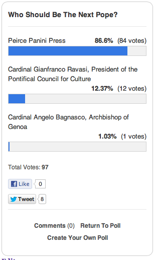 Tough break, Cardinal Angelo Bagnasco.