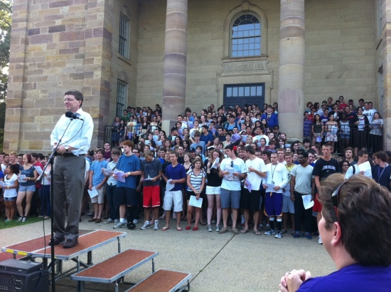 The 2011 First-Year Sing.