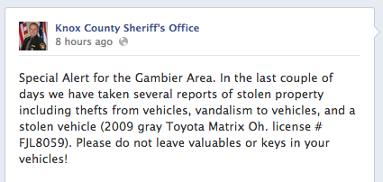 Car thefts screenshot