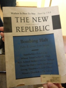 Possibly a professor's pastime or possibly a relic from a Kenyon resident long since dead. You decide.