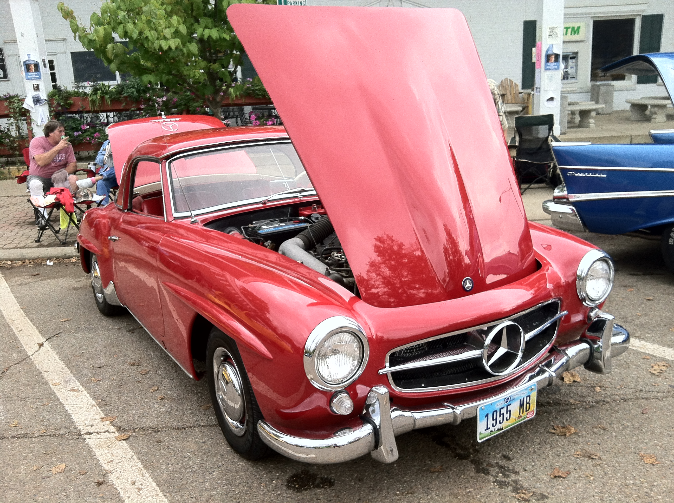 This is a car from the car show that happened this past weekend, not an actual vehicle driven by a Kenyon student.