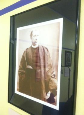 """Prez William """"Budd"""" Bodine rocking the robe and the sepia tones"""
