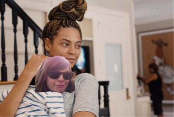 leslie with beyonce