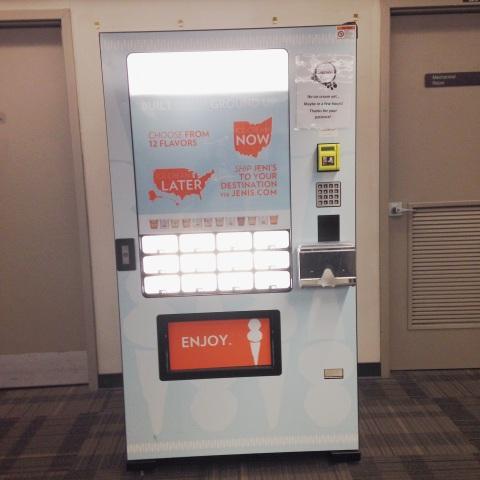 The vending machine.