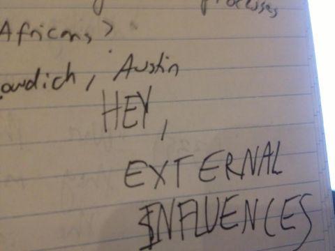 hey, external influences
