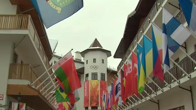 Sochi's mountain Olympic Village. (via NBC San Diego)