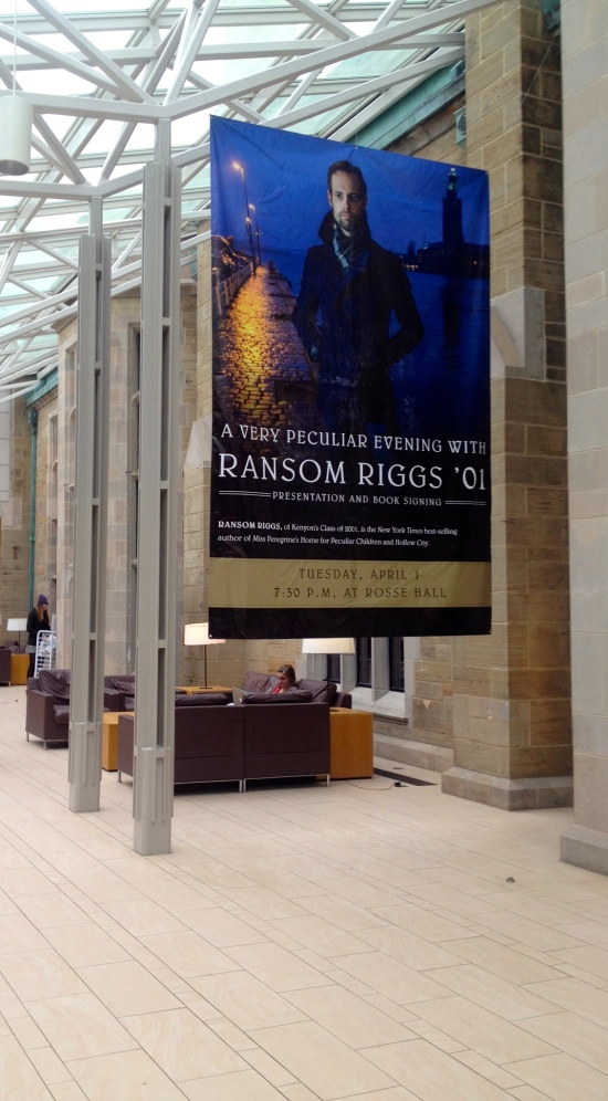 Ransom Riggs poster in Peirce. (Photo credit: Spencer Kaye '14)