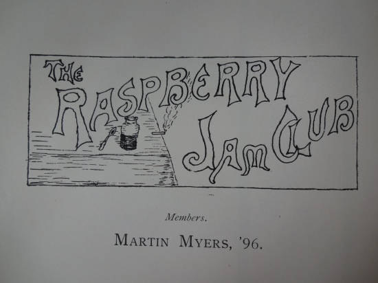 Such as the Raspberry Jam Club, bravely championed by Martin Myers '96.
