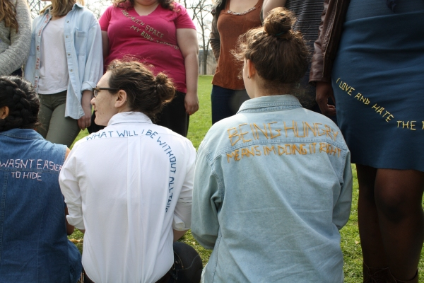 Picture in foreground: Molly McCleary '14 and Rosie Aquila '14, two out of the 25 who participated.