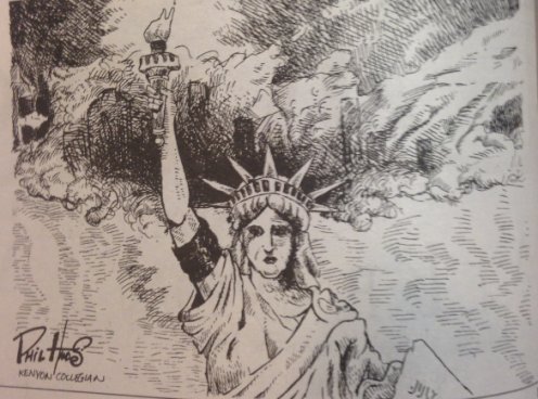 This cartoon was in the 9/13/01 issue of the Kenyon Collegian