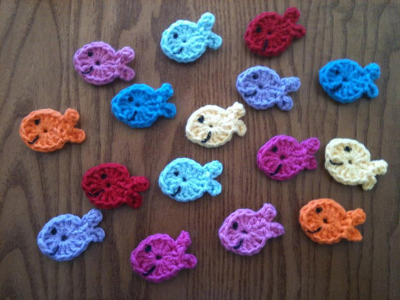 Among Zippy Craft's wares are these adorable happy little crochet fishes.
