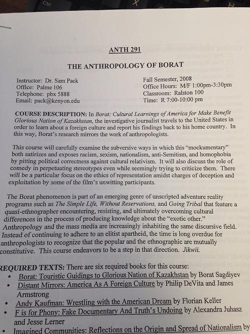 anth of borat