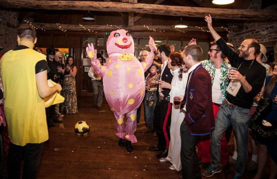 "The phrase I'd use to describe Fandango is: ""Emotional DIY Fancy Party Wedding"" (via weddingomaina.com)"