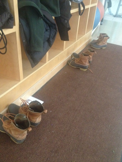 Lately, Phoebe has noticed an increase of Bean Boots at the KAC.