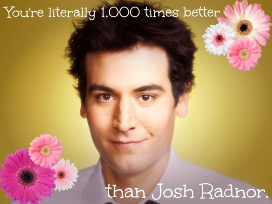 Josh Radnor '96 absolutely did not sign off on this.