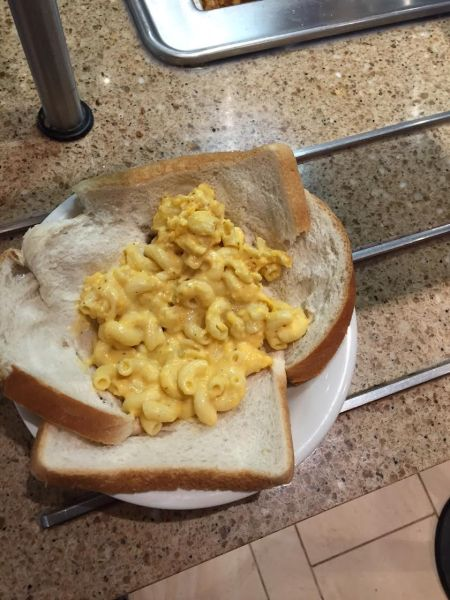 On the day this was made, mac and cheese was prevalent. This will probably work with at least two other Peirce dishes. Let us know what you try!