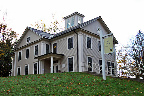 Lentz House, the home of English majors