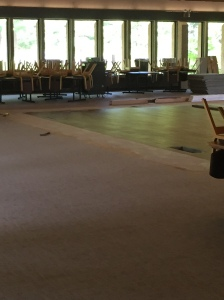 Look at the new floor in the ballroom!