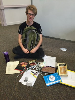 """""""I usually have more stuff in than this!"""" (editor's note: he already had a lot of stuff.)"""