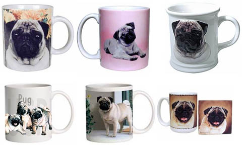 hugs not drugs only pugs on mugs