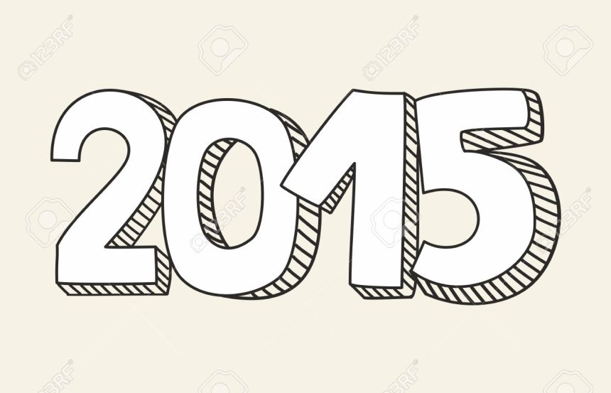 33283236-New-Year-2015-hand-drawn-vector-sign-or-number-symbol-draft-with-white-and-black-Message-isolated-on-Stock-Vector