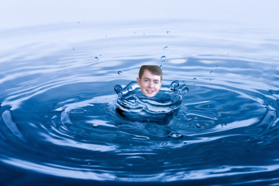 Renowned writer and editor Jack Quigley '16 bathes in the freedom of an unregulated water supply.