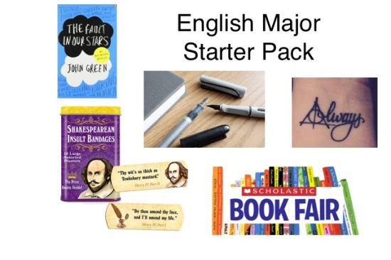 english-major-starter-pack