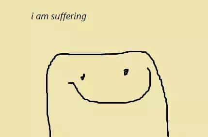suffering man