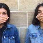 Kenyon Doppelgangers: Yasmin Nesbat '18 and Emma Raible'20