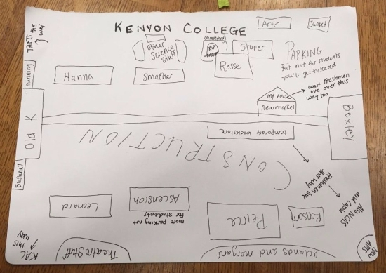 We Tried To Draw Maps Of Kenyon From Memory And This Is What