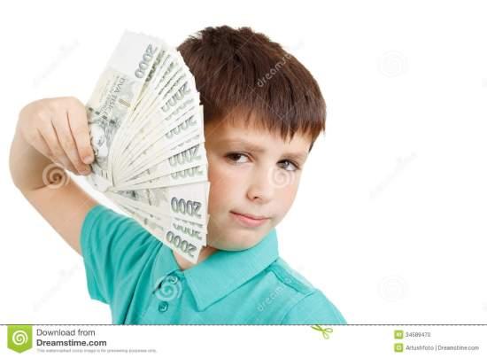 boy-holding-fan-czech-crown-banknotes-money-man-34589470