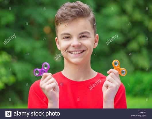 fidget spinning teen