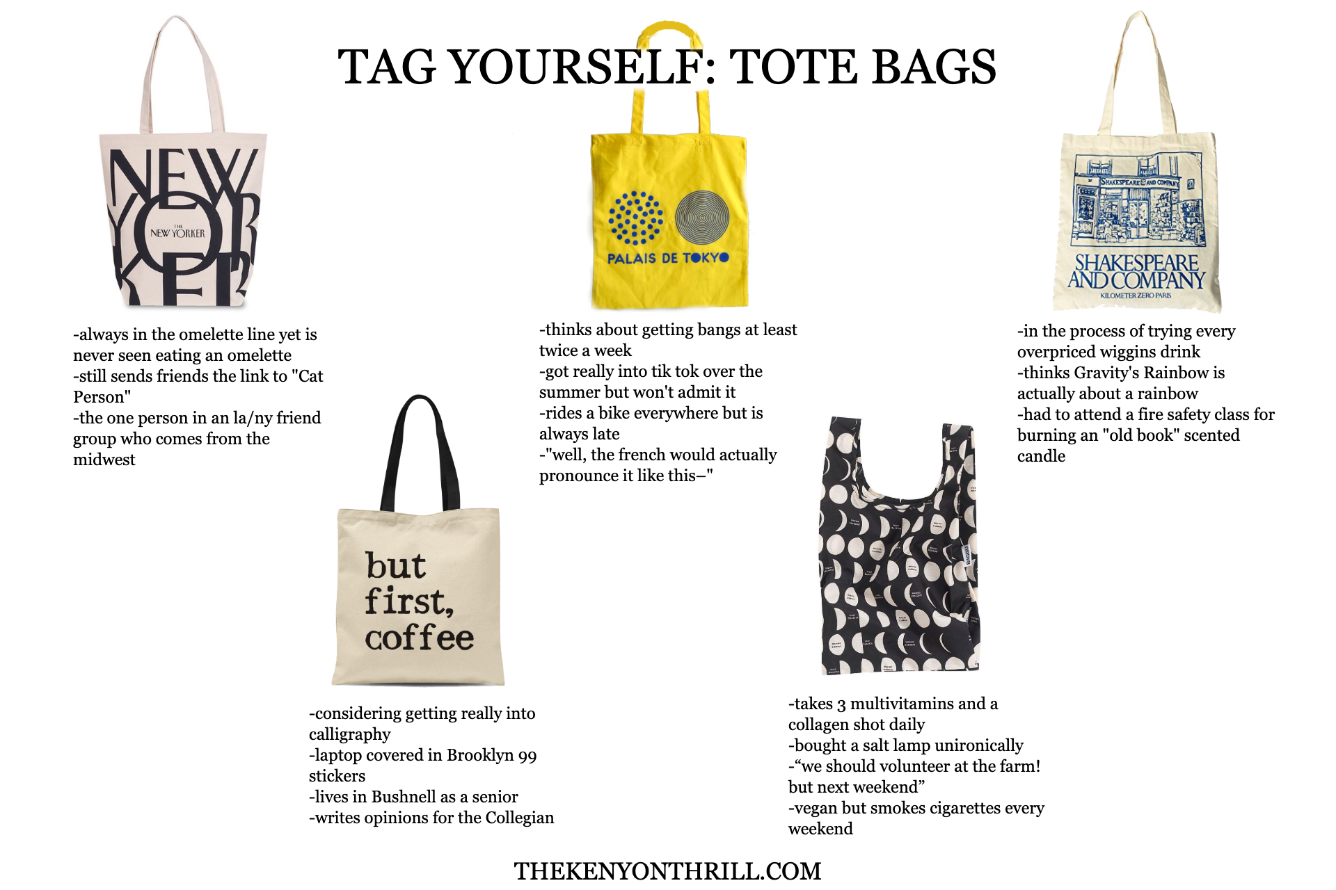 fixed tote bag tag yourself thrill